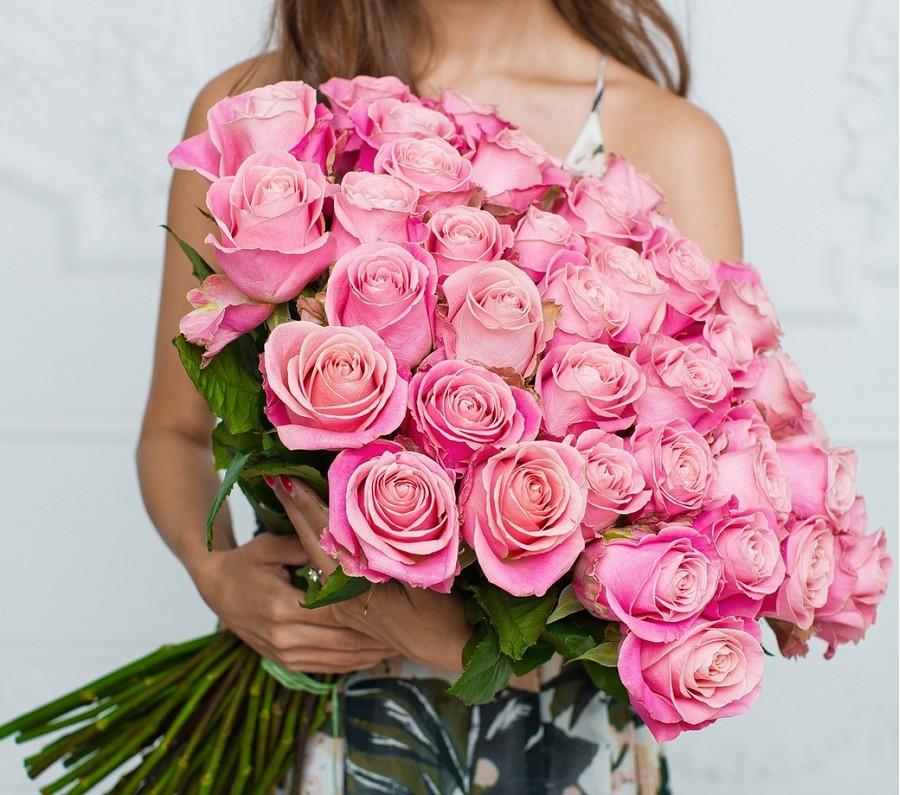 25 Роз Pink 70 см